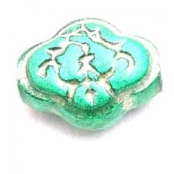 Kunststof kraal rond groen metallic 16 mm (5 st.)
