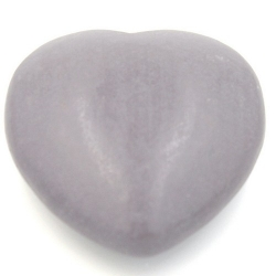 Houten hanger hart grijs 56mm (1 st.)