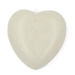 Houten hanger hart beige 56mm (1 st.)