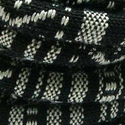 Aztec koord rond zwart/wit 6mm (1 mtr.)