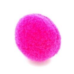 Pompon 20mm roze (5 stuks)