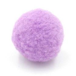 Pompon 20mm lila (5 stuks)