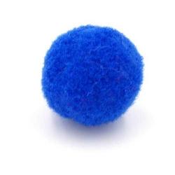 Pompon 26mm blauw (5 stuks)