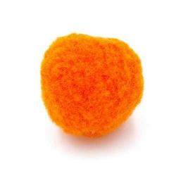 Pompon 26mm oranje (5 stuks)