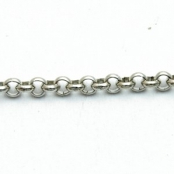 Jasseron, antique zilver, 3 mm (1mtr.)