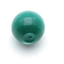 Catseye kraal rond groen 8 mm (10 st.)