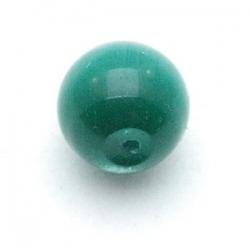 Catseye kraal rond groen 10 mm (10 st.)