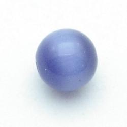 Catseye kraal rond paars 12 mm (5 st.)