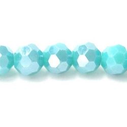 Facet kraal rond turquoise AB 6mm (10 st.)