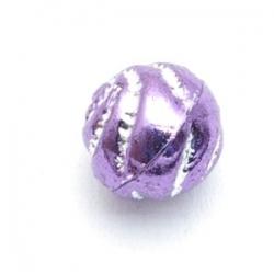 Kunststof kraal rond mix paars metallic (10 st.)