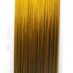 Staaldraad goud 0.38mm (100 meter)