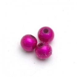 Miracle bead rond roze 4 mm (25 st.)