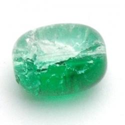 Crackle kraal, ovaal, groen, 16 x 12 mm (10 st.)
