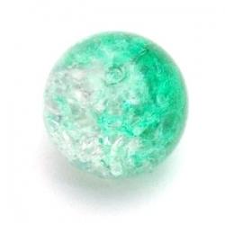 Crackle kraal, rond, groen, 8 mm (25 st.)