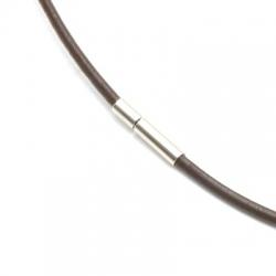 Ketting van leer, bruin, 2 mm (1 st.)