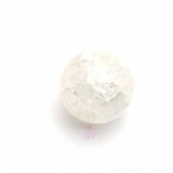 Glas crackle kraal rond transparant 8 mm (25 st.)