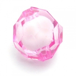 Miracle bead rond facet roze 20 mm (6 st.)