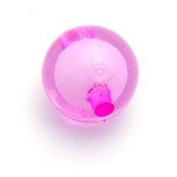 Miracle bead rond roze 16 mm (10 st.)