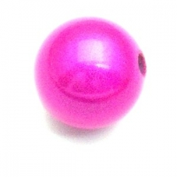 Miracle bead rond fuchsia 14 mm (5 st.)