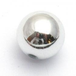 Kunststof kraal rond zilver 14 mm (10 st.)