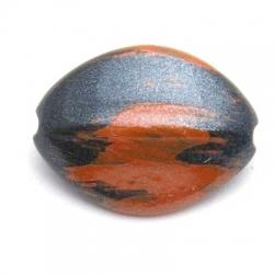 Kunststof kraal ovaal bruin 23 x 17 mm (5 st.)