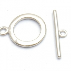 Kapittelslot, rond, zilverkleurig, 14 mm (3 st.)