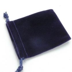 Velours buideltje, blauw, 10 x 12 cm (1 st.)