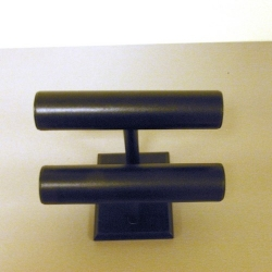 Armband standaard, velours, zwart, 2 rollen (1 st.)