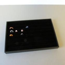 Ringendoos, velours, zwart, open (1 st.)