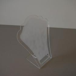 Ketting display, transparant, frost, plexi (1 st.)