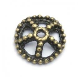 Kralenkapje, antique goud, 4 x 14 mm (10 st.)