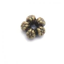 Metaal, spacer, antique goud, 7 mm (20 st.)