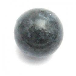 Halfedelsteen kraal rond zwart/grijs 18 mm (3 st.)