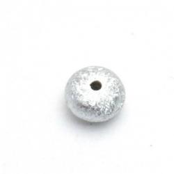 Kunststof kraal rond disc zilver 8 mm (25 st.)
