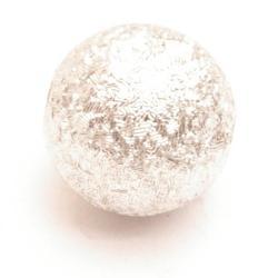 Kunststof kraal rond zilver 10 mm (10 st.)