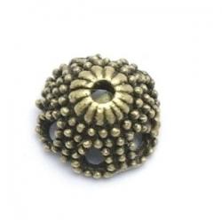Kralenkapje, antique goud, 6 x 12 mm (10 st.)