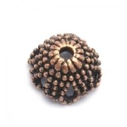 Kralenkapje, brons, 6 x 12 mm (10 st.)