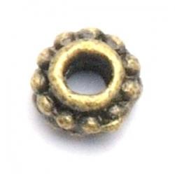 Metaal, spacer, antique goud, 6 mm (20 st.)