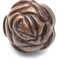 Metallook kraal brons roos 22 mm (3 st.)