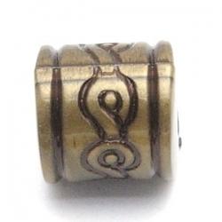 Metallook kraal brons tonnetje 12 mm (10 st.)
