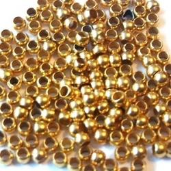 Knijpkralen, goudkleurig, 1,5 mm (10 gr.)