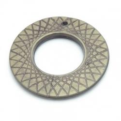 Metallook, hanger, ring, brons, 34 mm (5 st.)