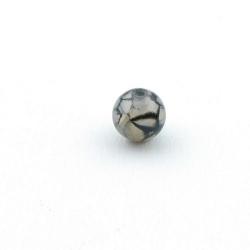 Dragon Veins Agaat, kraal, rond, grijs, 14 mm (5 st.)