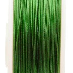Staaldraad groen 100 meter (0,38 mm)