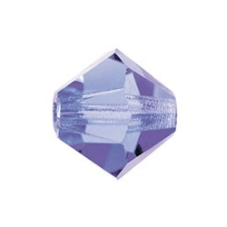 MC Bead, Rondell / Bicone, Tanzanite, 4 mm