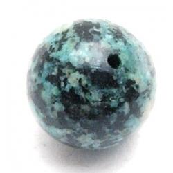 Halfedelsteen kraal, groen, rond, 14 mm (5 st.)