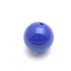 Kunststof kraal rond blauw 14 mm (10 st.)