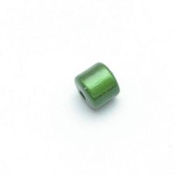 Miracle bead tonnetje groen 8 mm (10 st.)