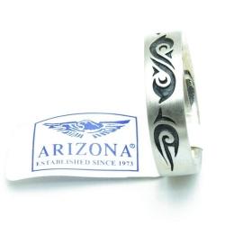 Ring, zilver met zwarte tribal, maat 16 (1 st.)