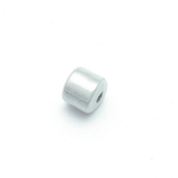 Miracle bead tonnetje zilver 8 mm (10 st.)